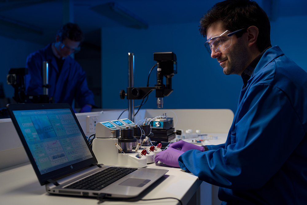 Dolomite Microfluidics' equipment offers easier and faster manufacturing of nanomedicines