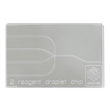 2 Reagent Droplet Chip (100µm etch depth), fluorophilic