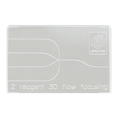3D Flow Focusing Chip – 100µm – 2 Reagent – Hydrophobic